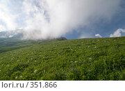 Купить «Красная Поляна, высокогорный луг и небо», фото № 351866, снято 28 июня 2008 г. (c) Игорь Р / Фотобанк Лори