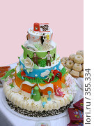 Купить «Юбилейный торт», фото № 355334, снято 4 июля 2008 г. (c) Zemlyanski Alexei / Фотобанк Лори
