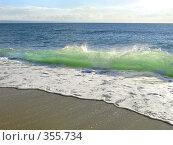 Купить «Золотые пески прибой», фото № 355734, снято 11 сентября 2006 г. (c) Татьяна Заварина / Фотобанк Лори