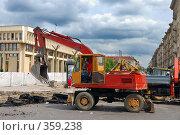 Замена дорожного покрытия (2008 год). Редакционное фото, фотограф Aneta Vaitkiene / Фотобанк Лори
