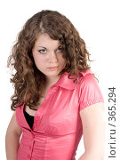 Купить «Портрет девушки», фото № 365294, снято 17 мая 2008 г. (c) Сергей Сухоруков / Фотобанк Лори