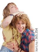 Купить «Улыбающиеся пара», фото № 365354, снято 18 мая 2008 г. (c) Сергей Сухоруков / Фотобанк Лори