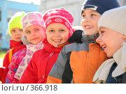 Купить «Группа детского сада», фото № 366918, снято 13 октября 2019 г. (c) Losevsky Pavel / Фотобанк Лори
