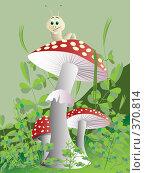 Гриб. Стоковая иллюстрация, иллюстратор Катыкин Сергей / Фотобанк Лори