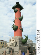 Купить «Ростральная колонна», фото № 372134, снято 21 июля 2008 г. (c) Alexander Shibaev / Фотобанк Лори
