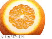 Купить «Апельсин на белом фоне изолировано», фото № 374814, снято 23 апреля 2008 г. (c) Pshenichka / Фотобанк Лори
