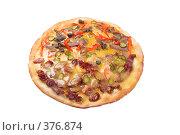 Купить «Пицца с колбасой и языком», фото № 376874, снято 10 декабря 2018 г. (c) Александр Fanfo / Фотобанк Лори