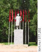 Купить «Краснозаводск. Памятник  В.И. Ленину.», фото № 377202, снято 3 июля 2008 г. (c) Кардаполова Наталья / Фотобанк Лори
