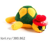 Купить «Вязаная игрушка черепашка», фото № 380862, снято 31 июля 2008 г. (c) Олег Пивоваров / Фотобанк Лори
