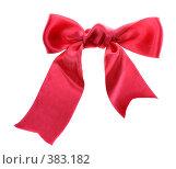 Купить «Красный бант», фото № 383182, снято 25 декабря 2007 г. (c) Литова Наталья / Фотобанк Лори