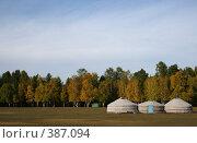 Купить «Бурятские юрты», фото № 387094, снято 21 сентября 2007 г. (c) Юлия Паршина / Фотобанк Лори