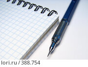 Блокнот и ручка. Стоковое фото, фотограф Евгений Одеров / Фотобанк Лори