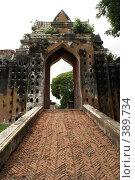 Купить «Ворота дворца Нараи (Phra Narai Rachanivej) в Лопбури, Таиланд», фото № 389734, снято 13 июля 2008 г. (c) Валерий Шанин / Фотобанк Лори