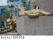 Купить «Памятник кошкам, Тюмень», фото № 390954, снято 26 июля 2008 г. (c) Снигирев Сергей / Фотобанк Лори