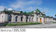 Купить «Вокзал в п.Слюдянка», фото № 395530, снято 7 ноября 2006 г. (c) Николай Лыжин / Фотобанк Лори