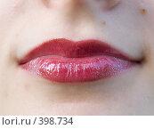 Женские губы. Стоковое фото, фотограф Яков Филимонов / Фотобанк Лори
