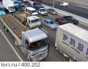 Купить «Москва. МКАД. Пробка.», эксклюзивное фото № 400202, снято 12 августа 2008 г. (c) lana1501 / Фотобанк Лори