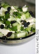 Купить «Салат с огурцом и брынзой», фото № 402502, снято 21 июня 2008 г. (c) Svetlana Bachkala / Фотобанк Лори