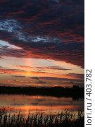 Купить «Багровый закат», фото № 403782, снято 23 мая 2018 г. (c) Сергей  Ушаков / Фотобанк Лори