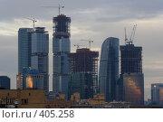 Купить «Восход в Москве», фото № 405258, снято 12 августа 2008 г. (c) Цветков Виталий / Фотобанк Лори