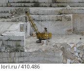 Купить «Кран в Коелгинском мраморном карьере», фото № 410486, снято 27 июля 2008 г. (c) Алексей Стоянов / Фотобанк Лори