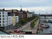 Купить «Набережная в Хельсинки», фото № 415494, снято 2 августа 2008 г. (c) Андрей Некрасов / Фотобанк Лори