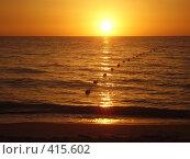Восход солнца над Средиземным морем в Тунисе! Стоковое фото, фотограф Андрей Русаков / Фотобанк Лори