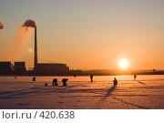 Купить «Дым из труб Рязанской ГРЭС», фото № 420638, снято 4 января 2008 г. (c) Василий Вишневский / Фотобанк Лори