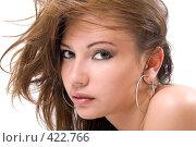 Купить «Портрет красивой девушки», фото № 422766, снято 2 июля 2008 г. (c) Сергей Сухоруков / Фотобанк Лори