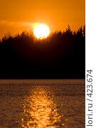 Купить «Закат на лесном озере в Карелии», фото № 423674, снято 19 мая 2007 г. (c) Max Toporsky / Фотобанк Лори