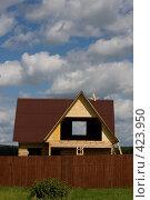 Купить «Строительство дачного домика», фото № 423950, снято 8 августа 2008 г. (c) Владимир Чмелёв / Фотобанк Лори