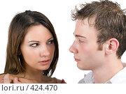 Купить «Девушка и парень», фото № 424470, снято 10 июля 2008 г. (c) Сергей Сухоруков / Фотобанк Лори
