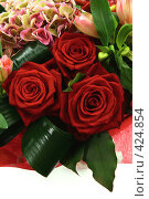 Купить «Букет цветов на белом фоне», эксклюзивное фото № 424854, снято 3 июня 2008 г. (c) Татьяна Белова / Фотобанк Лори