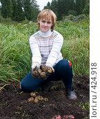 Купить «Русские национальные забавы. Копка картофеля», фото № 424918, снято 24 августа 2008 г. (c) Ирина Солошенко / Фотобанк Лори