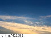 Купить «Вечернее небо», фото № 426382, снято 7 июля 2020 г. (c) Роман Сигаев / Фотобанк Лори