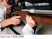 Купить «Женщина с ружьем», фото № 428998, снято 25 августа 2008 г. (c) Морозова Татьяна / Фотобанк Лори