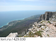 Купить «Вид на Черное море с  Айпетри», фото № 429030, снято 5 июня 2008 г. (c) Сергей Авдеев / Фотобанк Лори