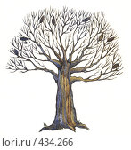 Купить «Осеннее дерево», иллюстрация № 434266 (c) Анастасия Малик / Фотобанк Лори