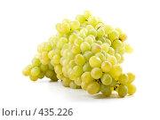 Купить «Свежий виноград на белом фоне», фото № 435226, снято 24 августа 2008 г. (c) Мельников Дмитрий / Фотобанк Лори