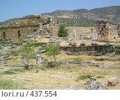 Купить «Руины древнего города Хиераполиса в Турции», фото № 437554, снято 24 июля 2007 г. (c) Сергей Карцов / Фотобанк Лори