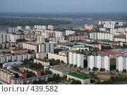 Вид на город Нижневартовск с высоты птичьего полета, фото № 439582, снято 25 июля 2008 г. (c) Владимир Мельников / Фотобанк Лори