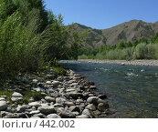 Купить «Горная река», фото № 442002, снято 8 июня 2008 г. (c) Виталий Матонин / Фотобанк Лори