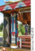 Купить «Верхние Мандроги. Деревянная скульптура», фото № 442418, снято 5 августа 2008 г. (c) Морковкин Терентий / Фотобанк Лори
