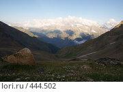 Купить «Долина в горах», фото № 444502, снято 5 августа 2008 г. (c) Антон Щербина / Фотобанк Лори