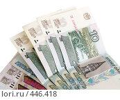 Купить «Бумажные деньги. Денежные знаки.», фото № 446418, снято 7 сентября 2008 г. (c) Кирпинев Валерий / Фотобанк Лори