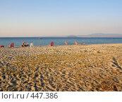 Пляж в Греции на полуострове Кассандра (2006 год). Стоковое фото, фотограф Светлана Кудрина / Фотобанк Лори