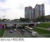 Купить «Район Кунцево из окна электрички, проходящей мимо», фото № 450806, снято 3 сентября 2008 г. (c) Елена Завитаева / Фотобанк Лори