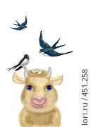 Купить «Июньская корова», иллюстрация № 451258 (c) Олеся Сарычева / Фотобанк Лори