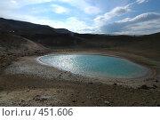Купить «Круглое озеро в вулканическом кратере в Исландии», фото № 451606, снято 23 августа 2008 г. (c) Комаров Константин / Фотобанк Лори