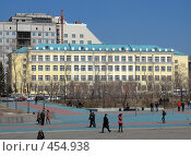 Купить «Город Чита школа № 4», фото № 454938, снято 23 апреля 2008 г. (c) Геннадий Соловьев / Фотобанк Лори